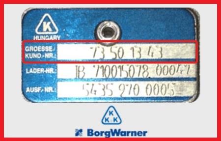 Turbo 3k / KK&K / Borgwarner