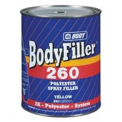 Mastic polyester pour métal hb Body Bodyfiller 260 Spray filler