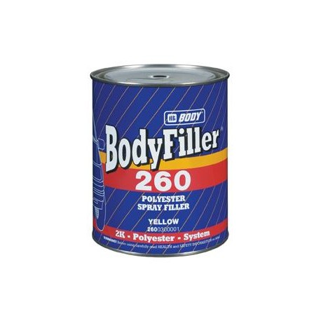 Mastic polyester b Body Bodyfiller 260