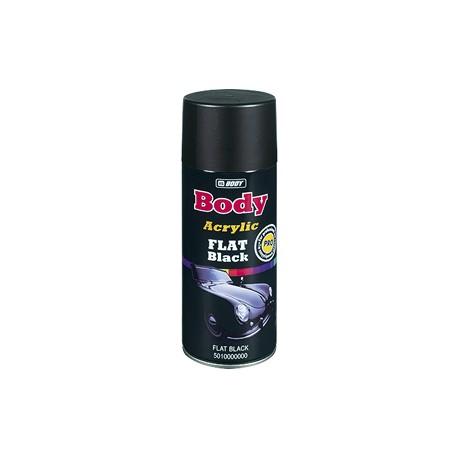 Aérosol acrylique HB Body Flat Black pour peinture universelle (couleur noire mate)