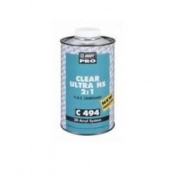Vernis 2k brillant HB BODY C494 Clear Ultra HS 2:1 (1L)