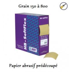 Rouleau de papier abrasif prédécoupé
