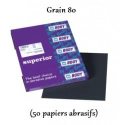 Tampons de papier abrasif Waterproof pour un ponçage à l'eau Hb Body Superior