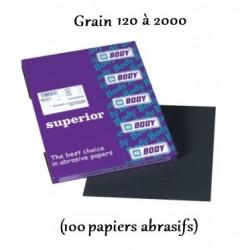 Papiers abrasifs Waterproofs pour un ponçage à l'eau Hb Body Superior