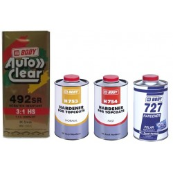 Pack Promotion : Vernis AutoClear 3:1 HB Body 492 SR (3L) + un durcisseur HB Body au choix (1L)