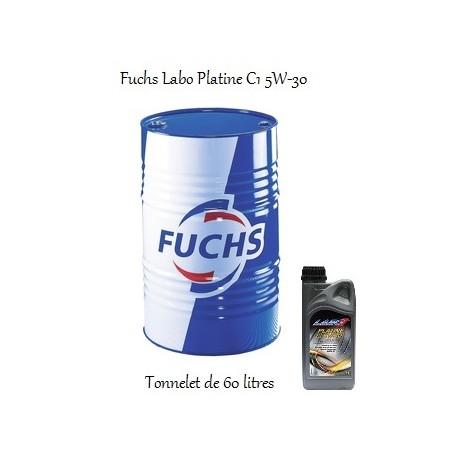 Lubrifiant moteur pour professionnels Fuchs Labo Platine C1 5W-30 (en Tonnelet de 60L)