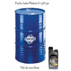 Fuchs lubrifiant moteur pour professionnels Labo Platine C1 5W-30 en fût de 200 litres