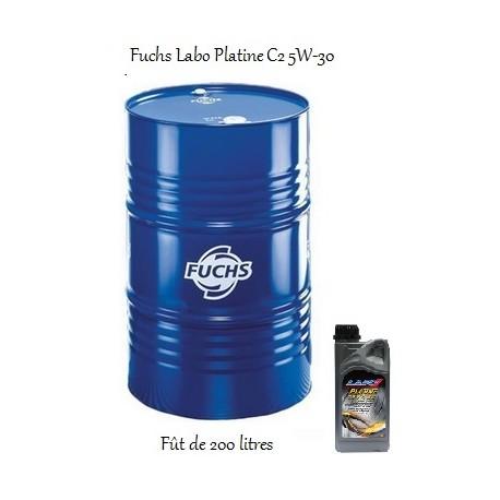 Fuchs lubrifiant moteur pour professionnels Labo Platine C2 5W-30 en fût de 200 litres