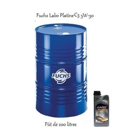 Fuchs lubrifiant moteur pour professionnels Labo Platine C3 5W-30 en fût de 200 litres
