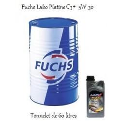 Fuchs Lubrifiant ACEA C3 Labo Platine C3+ 5W-30 pour professionnels (tonnelet de 60 litres)
