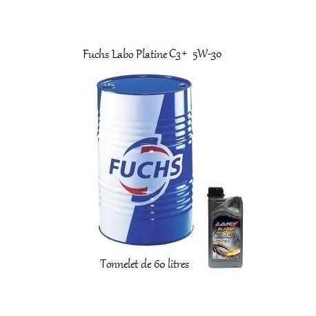 Lubrifiant moteur pour professionnels Fuchs Labo Platine C3+ 5W-30 (en Tonnelet de 60L)