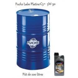 Fuchs lubrifiant moteur pour professionnels Labo Platine C3+ 5W-30 en fût de 200 litres