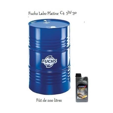 Fuchs lubrifiant moteur pour professionnels Labo Platine C4 5W-30 en fût de 200 litres