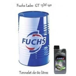 Lubrifiant moteur pour professionnels Fuchs Labo GT 15W-40 (60L)