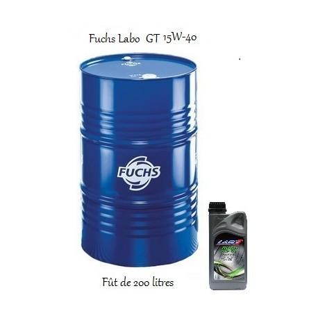 Lubrifiant moteur pour professionnels Fuchs Labo Rush GT 15W40 (200L)