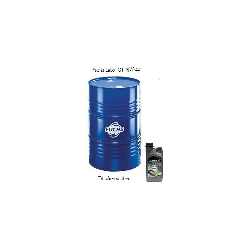 lubrifiant multigrade pour tous moteurs labo rush gt 15w 40 200l. Black Bedroom Furniture Sets. Home Design Ideas