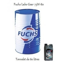 Lubrifiant transmissions mécaniques pour professionnels Fuchs Labo Gear 75W80