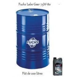 Huile de transmissions pour professionnels Fuchs Labo Gear 75W80 (fût de 200L)