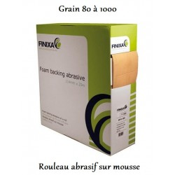 rouleau abrasif sur mousse Finixa Foam backing abrasive (114 mm X 25 m)