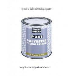 Apprêt ou mastic polyester 2k Hb Body P261 Polyester Filling Primer