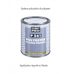 Apprêt / mastic polyester Hb Body P261 Polyester Filling Primer