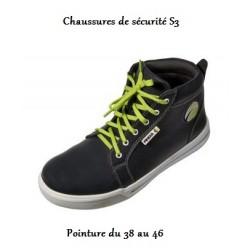 chaussures de sécurité S3 Finixa (pointure du 38 au 46)