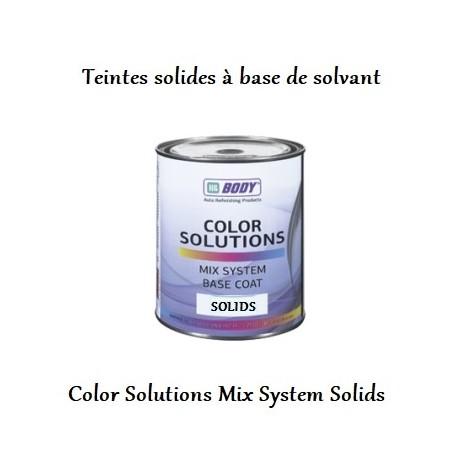 teintes solides et opaques solvantées Hb Body Color Solutions Base Coat Mix System