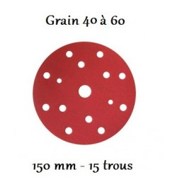 Disque abrasif Velcro 150 mm Hb Body Super-HB 15 trous (boîte de 50)