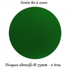 Disque abrasif sans trous grain 80 à 2000 (75 mm - 0 trou) Finixa Sanding Discs Ø 75 mm (boîte de 50)