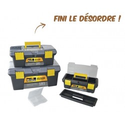 Lot de 3 caisses en plastique multi-usages Euro Vanadium
